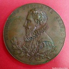 Medallas históricas: MEDALLA CONMEMORATIVA CERVANTES. QUIJITE. AÑO 1905. Lote 222528606