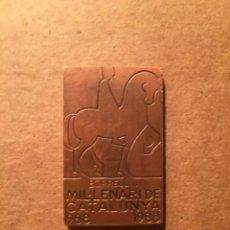 Medallas históricas: SUBIRACHS - MP - MEDALLA BORREL II MILENARI DE CATALUNYA 988 -1988 - 3,7X2,4 CM.. Lote 222546931