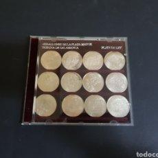 Medallas históricas: MEDALLONES DE LA PLAZA MAYOR DE SALAMANCA TRIBUNA DE SALAMANCA PLATA DE LEY. Lote 222587013