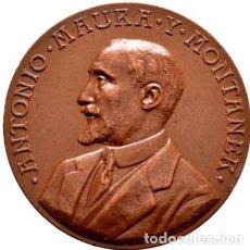 Medallas históricas: MEDALLA ANTONIO MAURA Y MONTANER. 1917. Lote 223485693
