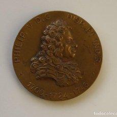 Medallas históricas: MEDALLA BRONCE INNOVACION DE LA MONEDA EN ESPAÑA Y AMERICA PHILIP. V D. G. HISP. ET IND. R. FELIPE V. Lote 224073831
