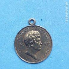 Medallas históricas: MEDALLA ANTIGUA DEL DÍA DE PARÍS. 1792 - 1915. ROUGET DE L´ISLE.. Lote 224156398