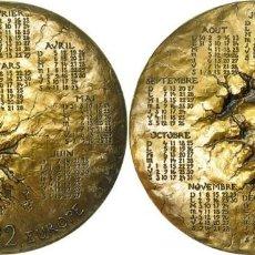 Medallas históricas: 1992 - MEDALLA CONMEMORATIVA CON EL RAPTO DE EUROPA (TRATADO DE MAASTRICHT) - BRONCE 630G.. Lote 224173203