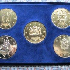 Medallas históricas: COLECCIÓN DE MEDALLAS DE LOS 5 PAÍSES FUNDADORES DE LA MERCADO COMÚN EUROPEO Y FAMÍLIA REAL COMPLETA. Lote 224262751