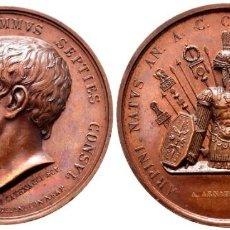 Medallas históricas: ITALIA. NÁPOLES Y SICILIA. FERNANDO II. MEDALLA. AE. 46,98 G. SERIE ROMANA, CAYO MARIO. V. CATENACCI. Lote 224279020