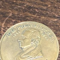 Medallas históricas: MEDALLA 10TH PRESIDENTE DE ESTADOS UNIDOS JOHN TYLER PRESIDENTE ACCIDENTAL 32 MM. VER FOTOS.. Lote 224424573