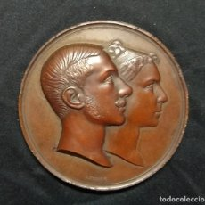 Médailles historiques: MEDALLA DE BRONCE BODA ALFONSO XII Y Mª DE LAS MERCEDES. Lote 224856213