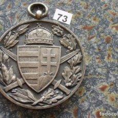 Medallas históricas: ANTIGUA MEDALLA AUSTRIA FRANZ JOSEPH I. 1848-1916 MEDALLA 1914 FRONT COMBATIENTES CONSERVACIÓN 37 MM. Lote 225316195
