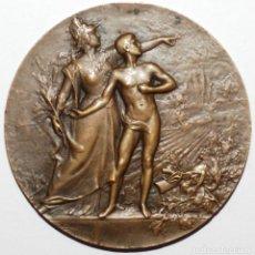 Medallas históricas: MEDALLA OFRECIDA POR EDOUARD GRINDA DIPUTADO. Lote 226055510