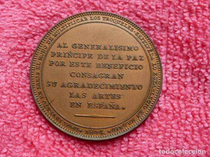 Medallas históricas: Rara Medalla 1804 Carlos IV Augusta Unión - Método Droz - Ensayador : M . González Sepúlveda - SC- - Foto 2 - 226625364