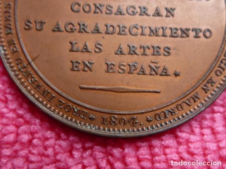 Medallas históricas: Rara Medalla 1804 Carlos IV Augusta Unión - Método Droz - Ensayador : M . González Sepúlveda - SC- - Foto 3 - 226625364