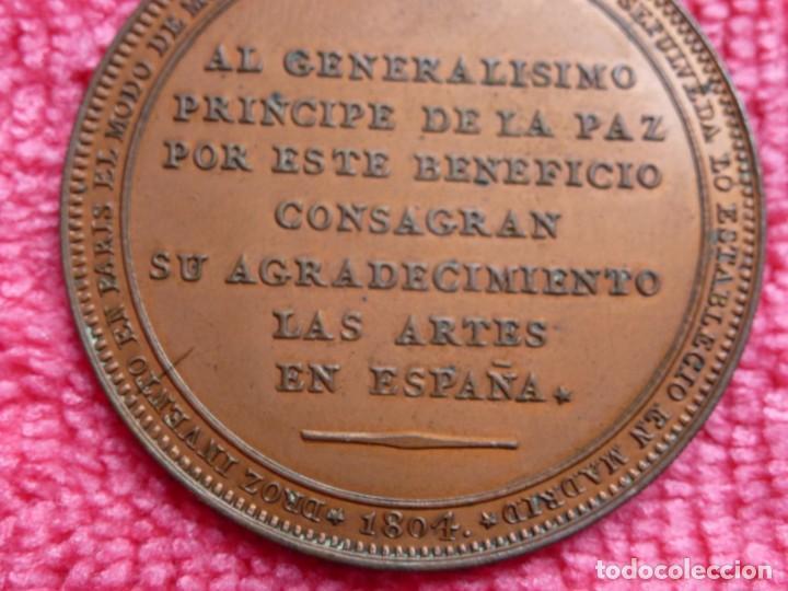 Medallas históricas: Rara Medalla 1804 Carlos IV Augusta Unión - Método Droz - Ensayador : M . González Sepúlveda - SC- - Foto 4 - 226625364
