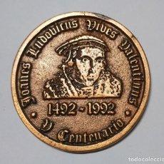 Medallas históricas: MEDALLA V CENTENARIO 1492 - 1992 JOANES LUDOVICUS VIVES VALENTIANUS. Lote 226644715