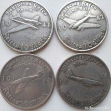 Medallas históricas: IMPRESIONANTE SERIE DE MONEDAS LUFTWAFFE 1941 1942 1943 1944. Lote 226672945