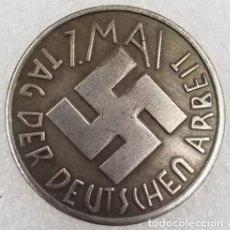 Medallas históricas: IMPRESIONANTE MONEDA CONMEMORATIVA NAZI 1 MAYO. Lote 226678826