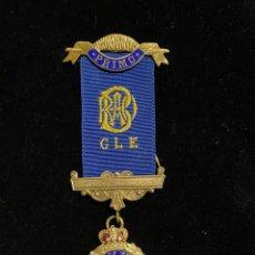 Medallas históricas: MEDALLA MASONICA PLATA Y ESMALTE 1977. Lote 226864090