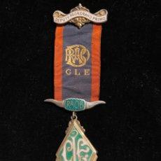 Medallas históricas: MEDALLA MASONICA PLATA Y ESMALTE 1955. Lote 226865500