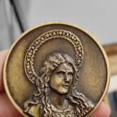 Medallas históricas: MEDALLA STA MARIA MAGDALENA 1950-2000 BANYERES DE MARIOLA 6CM. Lote 228608415