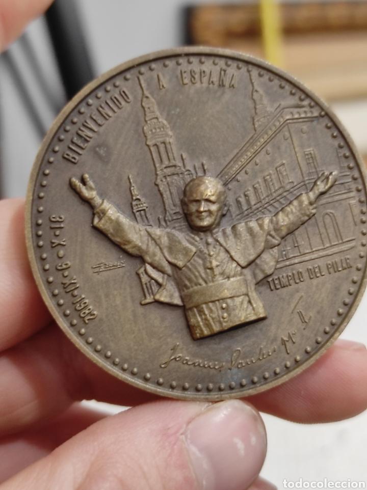 MEDALLA VISITA DE JUAN PABLO II A ESPAÑA. 1.982 5CM (Numismática - Medallería - Histórica)