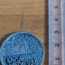 Medallas históricas: MEDALLA DE BAGÀ, CATALUNYA. BAGÀ MEDIEVAL, PLAÇA DE LA PORXADA. Lote 229177770