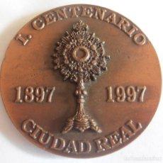 Medallas históricas: I. CENTENARIO , CIUDAD REAL, ADORACION NOCTURNA ESPAÑOLA, 1897, 1997. Lote 234303755