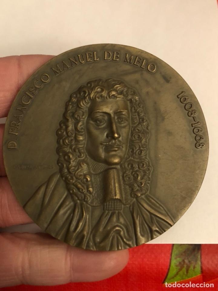 Medallas históricas: Antigua medalla de bronce portuguesa a clasificar, gran tamaño - Foto 2 - 234545785