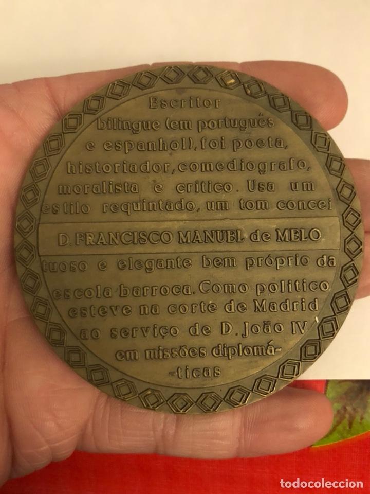 Medallas históricas: Antigua medalla de bronce portuguesa a clasificar, gran tamaño - Foto 3 - 234545785