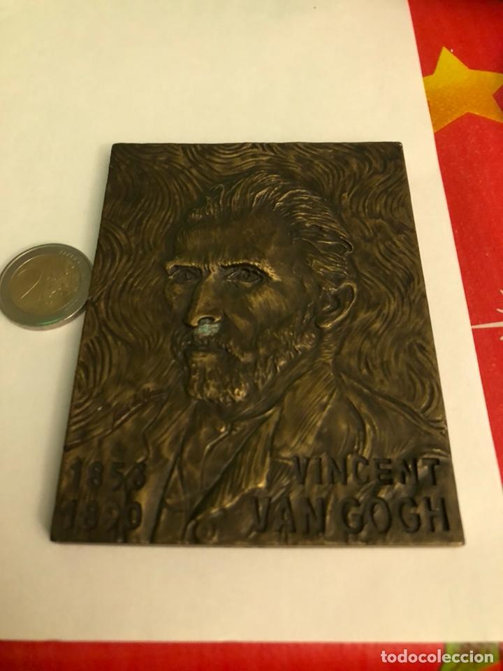 BONITA MEDALLA ANTIGUA VICENT VAN GONG, BRONCE, GRAN TAMAÑO (Numismática - Medallería - Histórica)