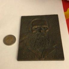 Medallas históricas: MAGNIFICA MEDALLA EN BRONCE DEL ESCRITOR RUSO DOSTOYEVSKI, GRAN TAMAÑO. Lote 234560075