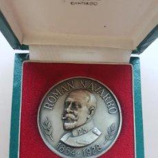 Medallas históricas: MEDALLA PLATA ROMAN NAVARRO MALDE EXPOSICION CONMEMORATIVA 1976. Lote 234850700