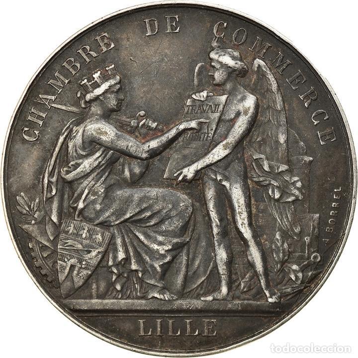 FRANCIA, TOKEN, CHAMBRE DE COMMERCE DE LILLE, BORREL.A, MBC+, PLATA (Numismática - Medallería - Histórica)