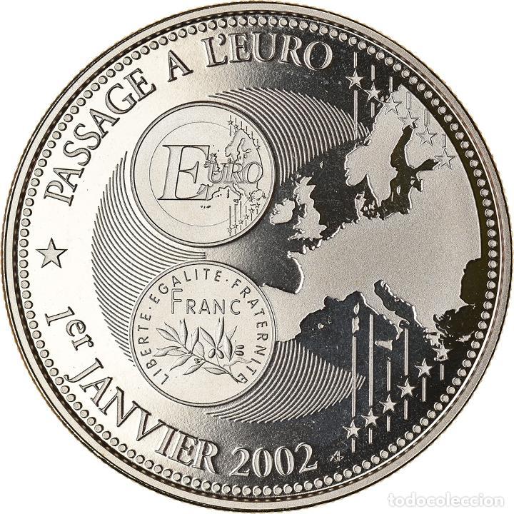 FRANCIA, MEDALLA, PASSAGE À L'EURO, 2002, POLITICS, SOCIETY, WAR, 2002, FDC (Numismática - Medallería - Histórica)