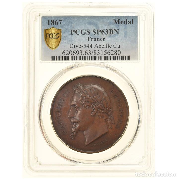 FRANCIA, MEDALLA, SECOND FRENCH EMPIRE, EXPOSITION UNIVERSELLE DE PARIS, 1867 (Numismática - Medallería - Histórica)