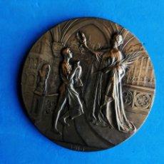 Medallas históricas: MEDALLA DE BRONCE. EXPOSICION UNIVERSAL BRUSELAS 1910. ENVIO CERTIFICADO INCLUIDO.. Lote 235147935