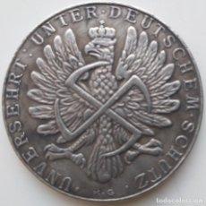 Medallas históricas: IMPRESIONANTE MONEDA CONMEMORATIVA ADOLF HITLER 1939. Lote 235414240