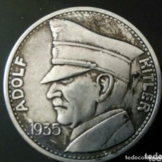 Medallas históricas: IMPRESIONANTE MONEDA CONMEMORATIVA ADOLF HITLER 1935. Lote 235415120