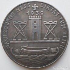 Medallas históricas: IMPRESIONANTE MONEDA CONMEMORATIVA ADOLF HITLER 1939. Lote 235416195