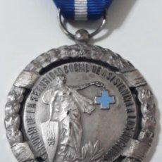Medallas históricas: MEDALLA DE PLATA DEL MINISTERIO DE TRABAJO.OTORGADA AUN MIEMBRO DE LA EJECUTIVA DEL MINISTRO DE SANI. Lote 235543505