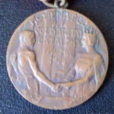 Medallas históricas: ANTIGUA MEDALLA HOMENATGE DE LA SOLIDARITAT CATALANA 1906. CATALUNYA. Lote 236001715