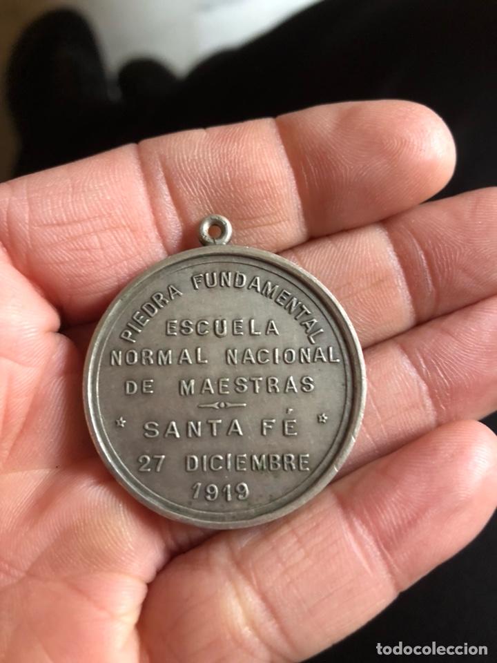 Medallas históricas: Antigua medalla argentina de plata, Santa Fe 1919 - Foto 2 - 236033245