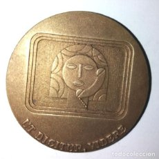 Medallas históricas: MEDALLA BRONCE DE LA COMPAÑIA TELEFÓNICA NACIONAL DE 1973. Lote 236156290