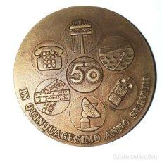 Medallas históricas: MEDALLA BRONCE DE LA COMPAÑÍA TELEFÓNICA NACIONAL DE 1975. Lote 236156800