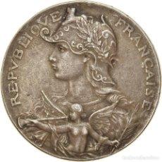 Medallas históricas: FRANCIA, MEDALLA, ART NOUVEAU, AU MÉRITE, ANGES, MBC, BRONCE PLATEADO. Lote 236383125