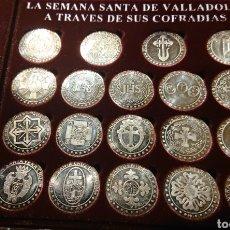 Medallas históricas: SEMANA SANTA VALLADOLID, COFRADÍAS DE VALLADOLID, MONEDAS PLATA, BUEN ESTADO, PLATA. Lote 236662295
