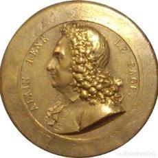 Medallas históricas: FRANCIA. MEDALLA NOVELISTA ALAIN RENE LE SAGE. UNIFACE. Lote 236815165