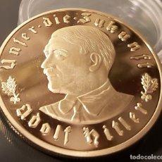 Medallas históricas: MEDALLA III REICH UNSER DIE ZUKUNFT 1933 COPIA. Lote 236825150