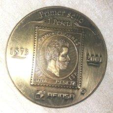 Medallas históricas: MEDALLA CONMEMORATIVA DEL PRIMER Y ULTIMO SELLO DE 1 PTS.. Lote 254680750