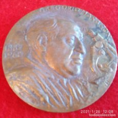 Medallas históricas: MEDALLA DE BRONCE A GREGORIO MARAÑÓN DE 8 CM DE DIÁMETRO, ESCULTOR: JULIO LÓPEZ HERNÁNDEZ.. Lote 237285220