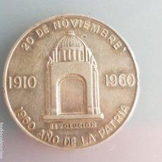 Medallas históricas: RARA MEDALLA PLATA MEXICO 1810 -1910 -1960 AÑO DE LA PATRIA 37MM. Lote 238432050