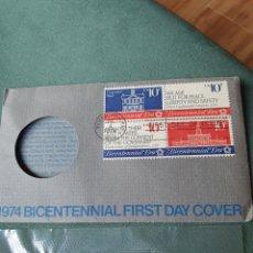 Medallas históricas: COMMEMORATIVE MEDAL JOHN ADAMS 1974 BICENTENNIAL FIRST DAY COVER. Lote 240009620